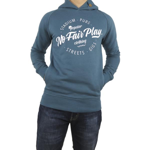 Hooded Sweatshirt - Petrol Blue