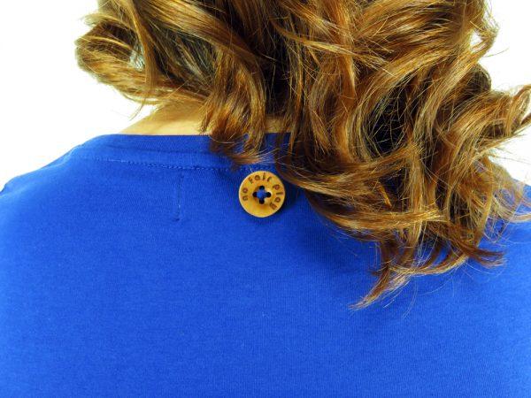 Bottone Legno Maglietta Donna