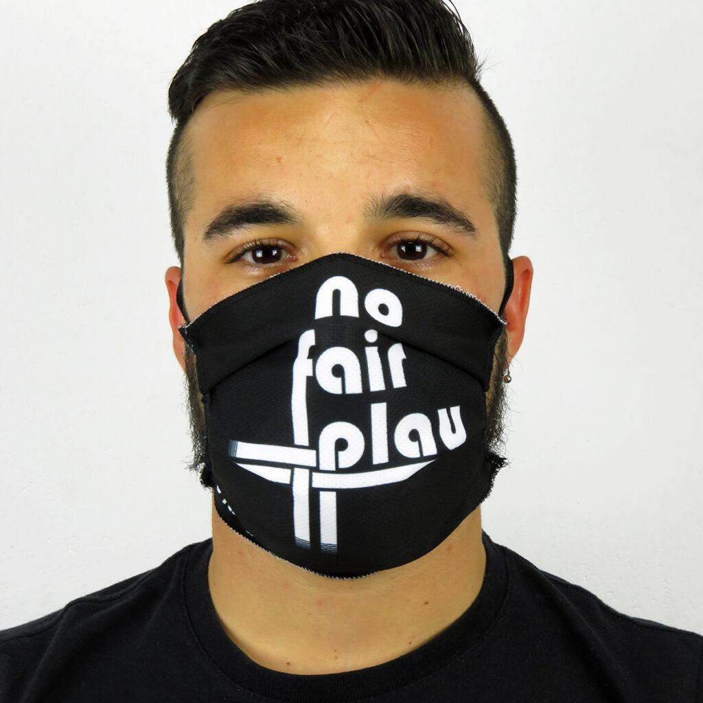 Mascherina realizzata in Italia No Fair Play